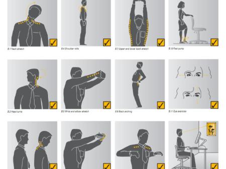 упражнения для похудения на работе