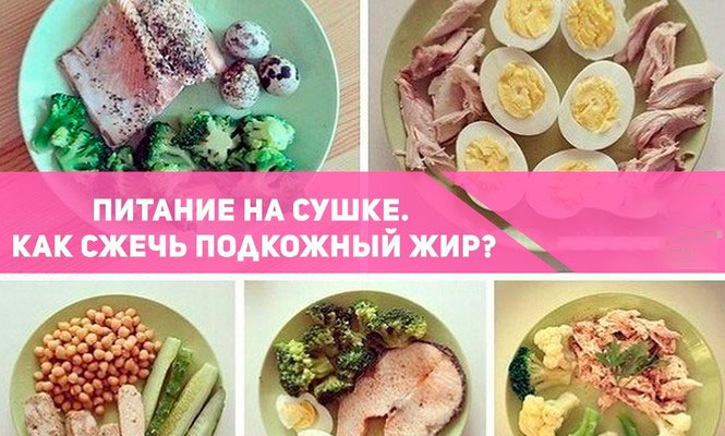 Продукты для сушки при похудении
