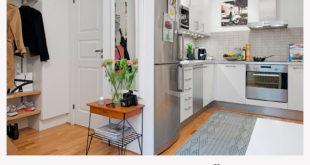 Кухня в прихожей: 4 решения необычной задачи